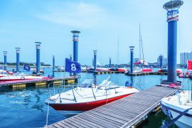 Racing Boats Docked - Challenor Marine Services